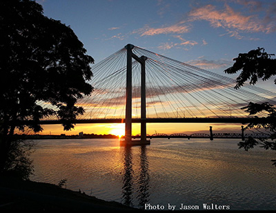 Cable Bridge Sunrise